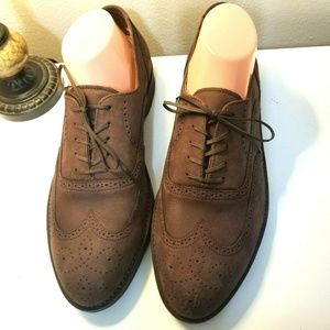 Rockport Vibram Brown Suede Oxford Shoes Size 10.5